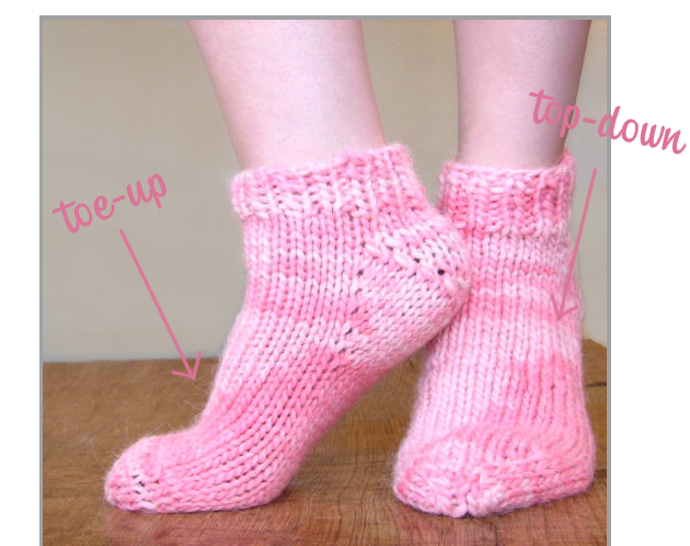 Toe Up Knitted Sock Pattern Free : inspiration and realisation: DIY fashion blog: DIY and a good cause: Socks fo...