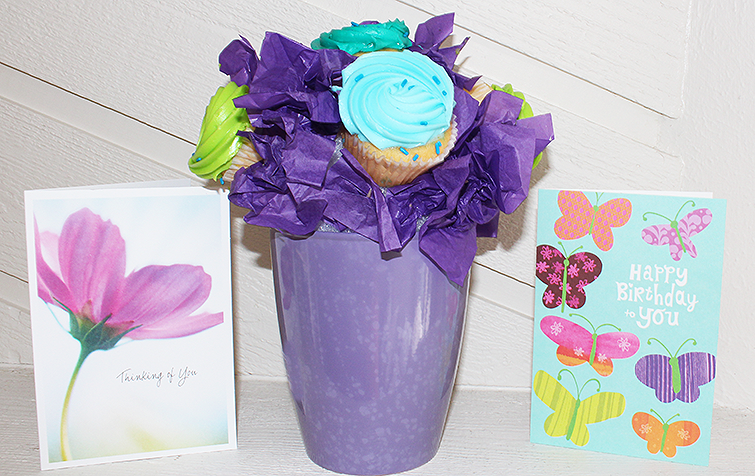 cupcake bouquet gift idea