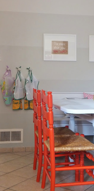 painted coral chairs