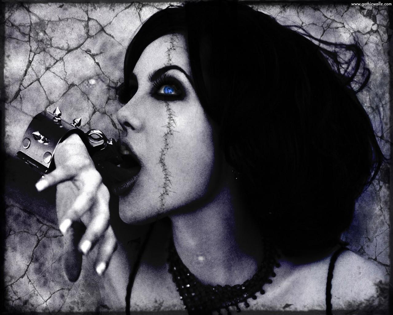 Gothic Anjelina Jolie   Dark Gothic Wallpaper Download