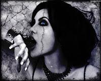 Gothic Anjelina Jolie - Dark Gothic Wallpapers