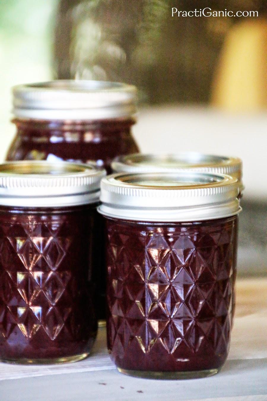 Cherry Rhubarb Mint Jam