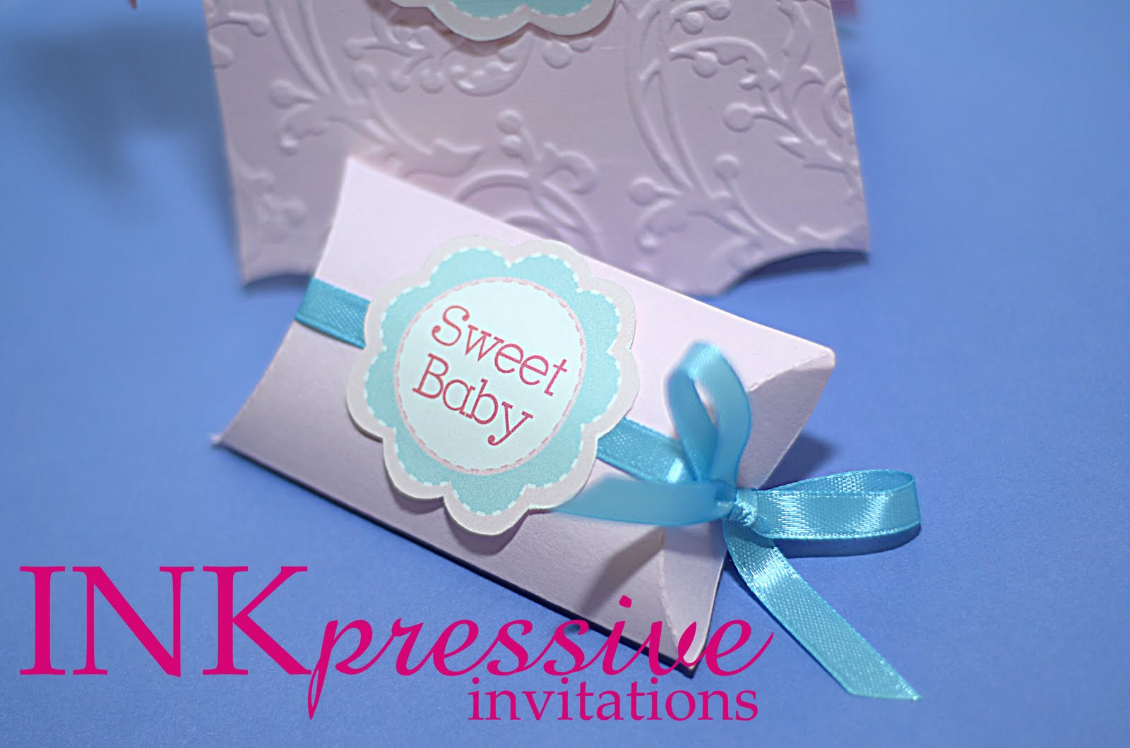 sweet baby collection onesies and pillow boxes With pillow box wedding invitations