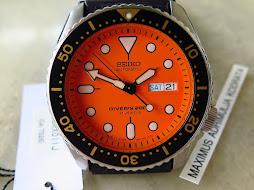 SEIKO DIVER SKX011J ORANGE DIAL - AUTOMATIC 7S26 - MINTS CONDITION