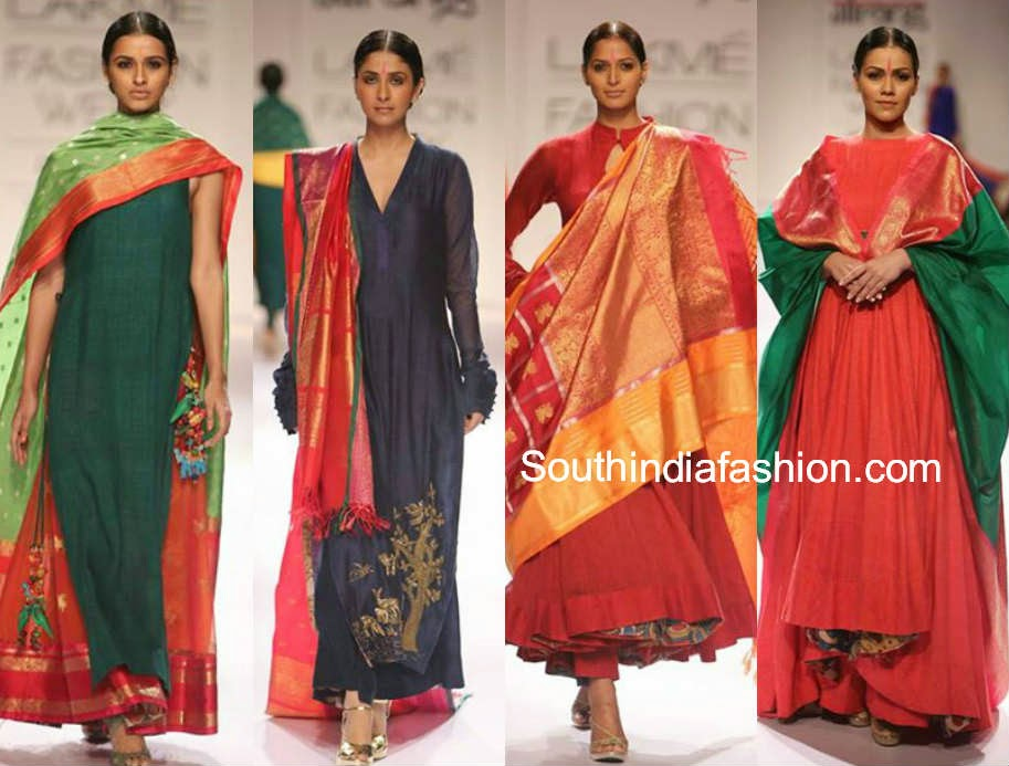 lakme fashion week winter festive 2014 gaurang shah collection