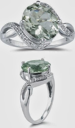 Carat Green Amethyst And Diamond Ring