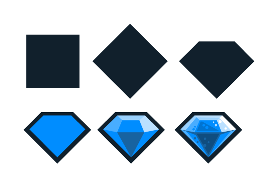 2D Game Art Tutorials: Quick Draw - Diamond