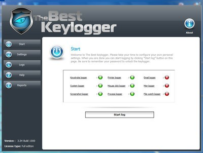 The Best Keylogger 3.54 Build 1000 + Crack