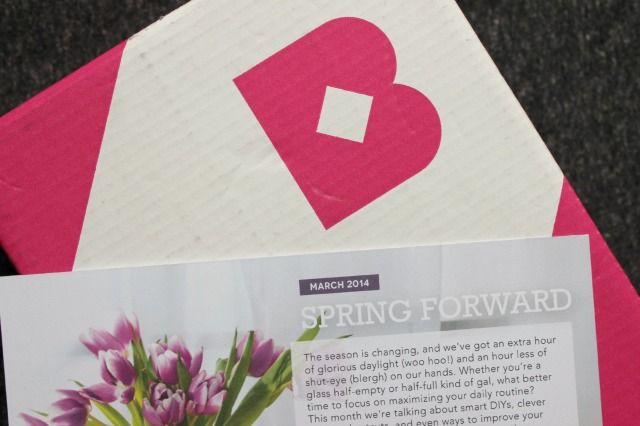 birchbox march 2014 spring forward review