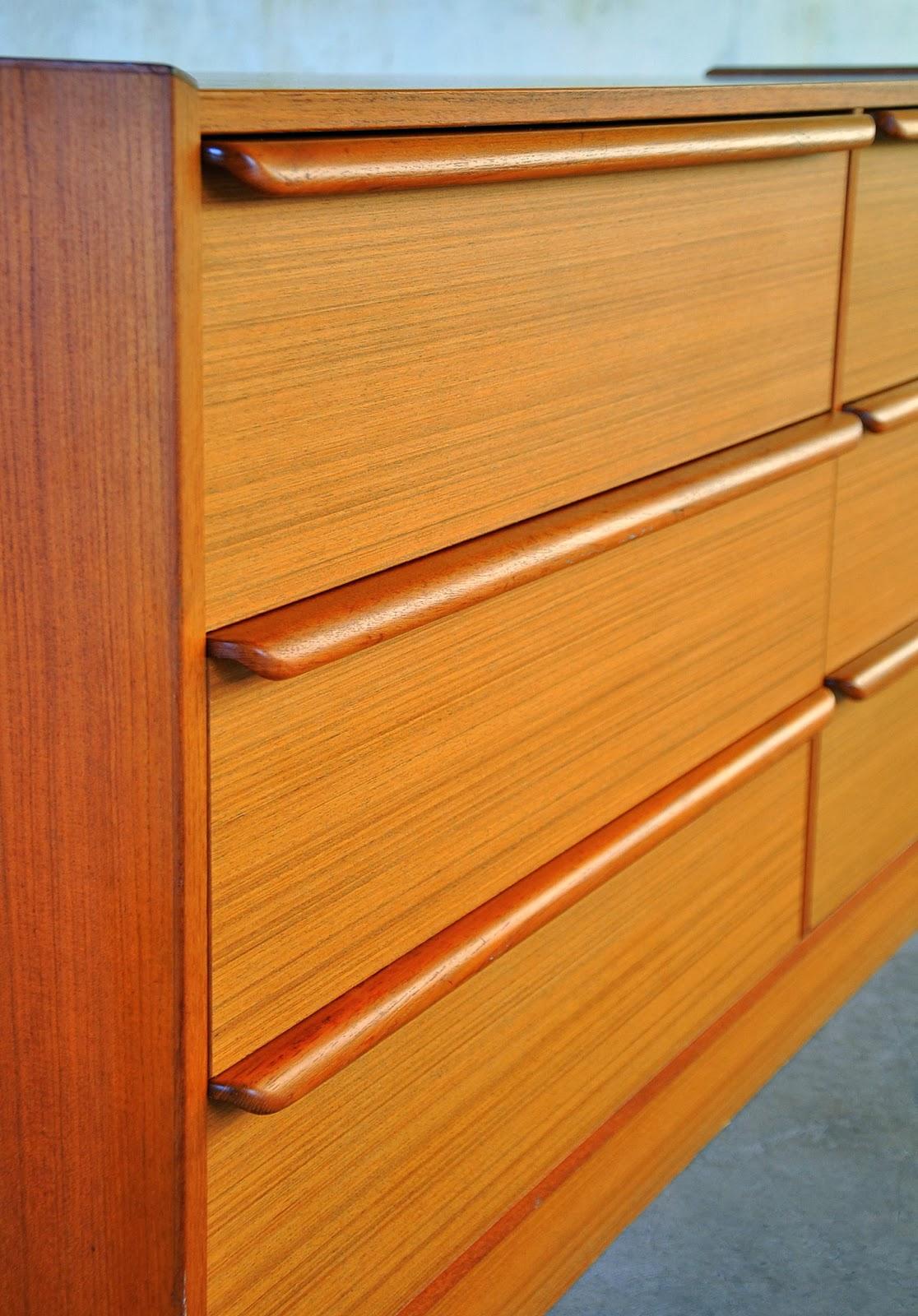 Select modern danish teak double dresser