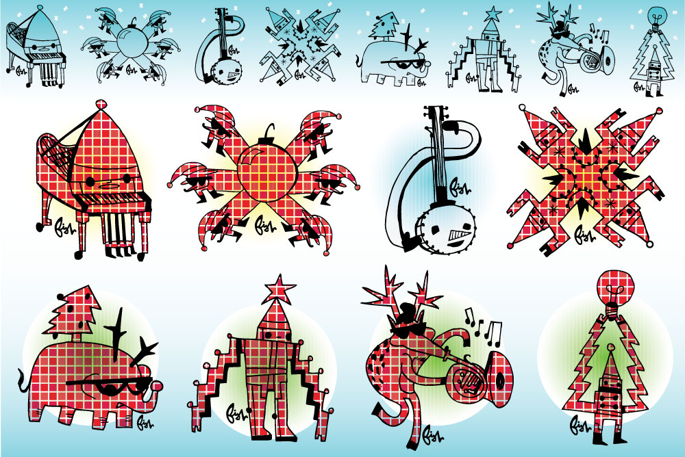 2012 Holiday Stickers