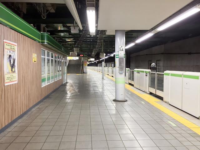 夜景,目黒駅,山手線ホーム〈著作権フリー無料画像〉Free Stock Photos
