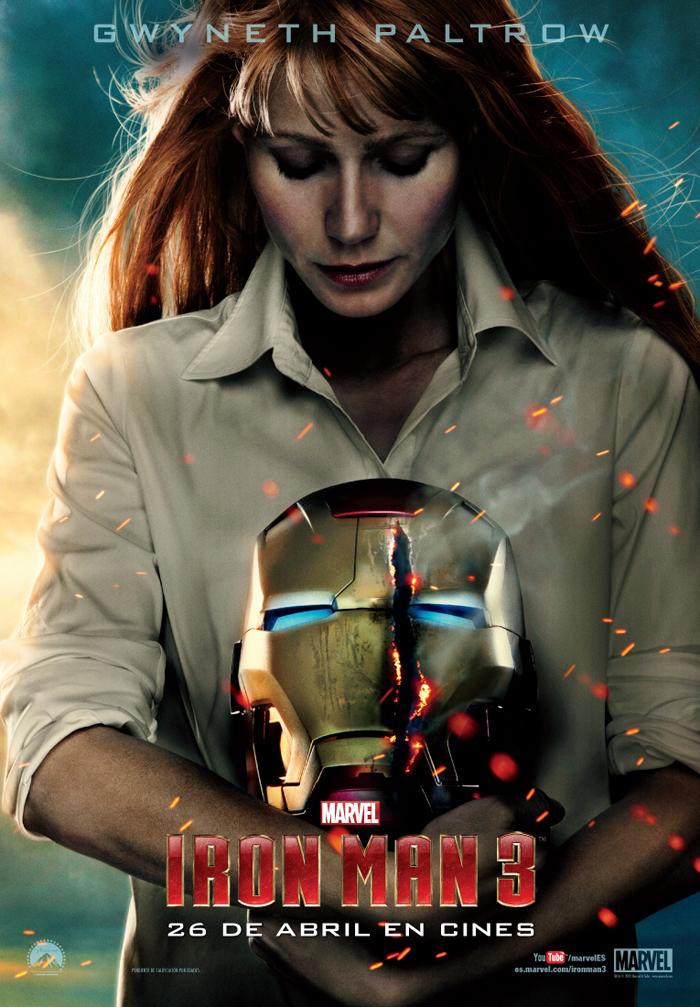 Gwyneth Paltrow es Pepper Pots en Iron Man 3