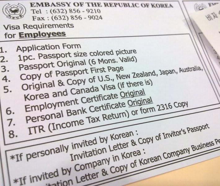 Korean Visa Approved! - Domesticated Mudra