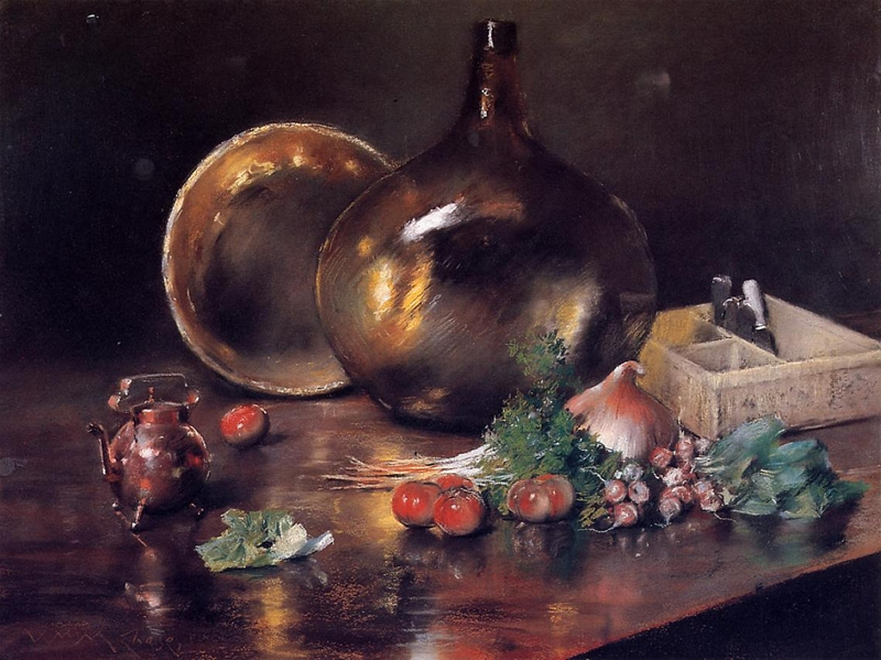 William Merritt Chase 1849-1916 | American painter | The Impressionist Still Lifes
