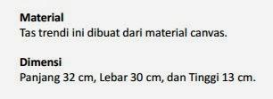 Jual Tas Fashion Pekanbaru Tote Bag Etphis C204 Canvas Red