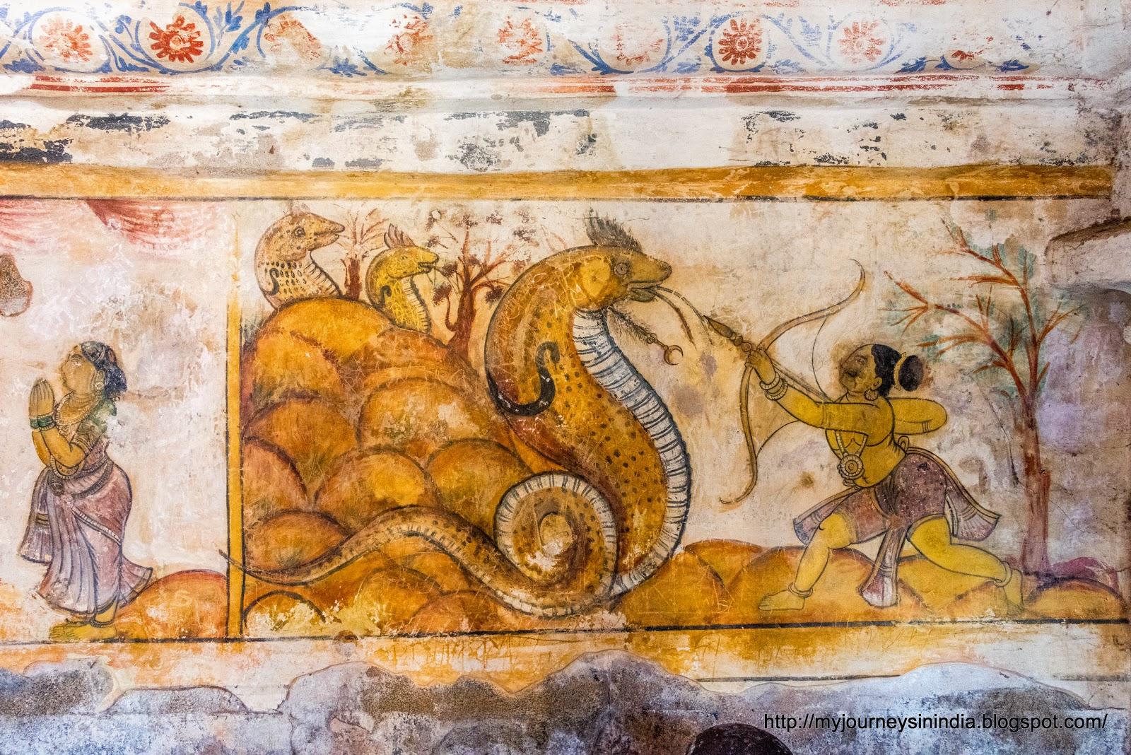Thanjavur Brihadeeswarar Temple Murals Paintings