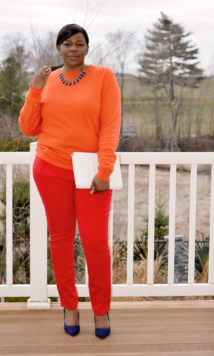 Plus size fashion monochromatic look #mycurvesandcurls