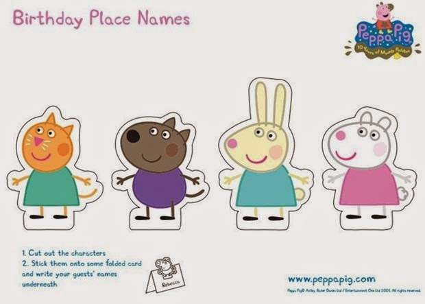 Peppa Pig: Free Printable Party Mini Kit. | Oh My Fiesta! in english