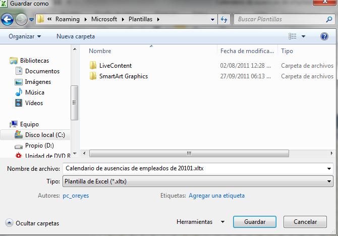 Uso de Plantillas en Excel | Dirección Informática