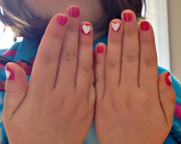 silhouette heart nail art tutorial