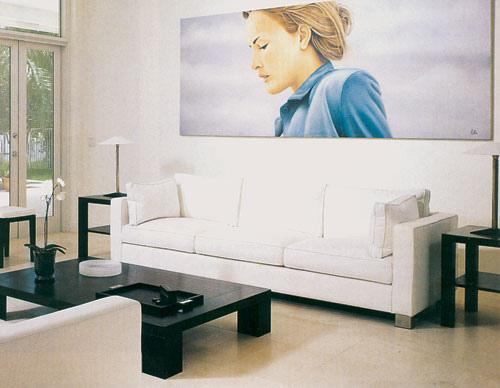 ... luas kedalam, tanpa adanya pemisah tembok dari ruang tamu ke ruang tv