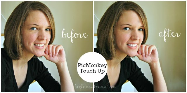using picmonkey touch up tool