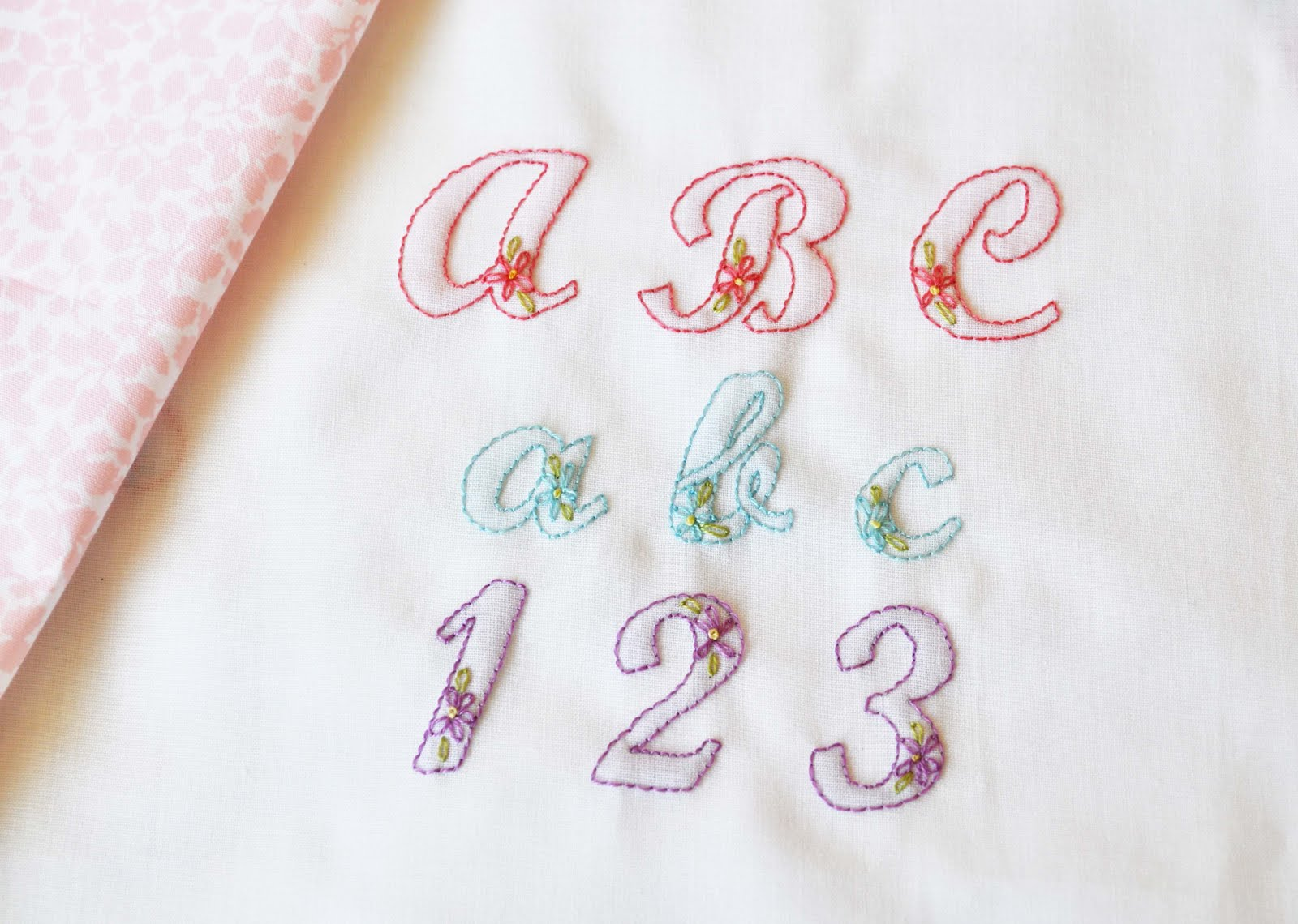Hand embroider alphabet free embroidery patterns