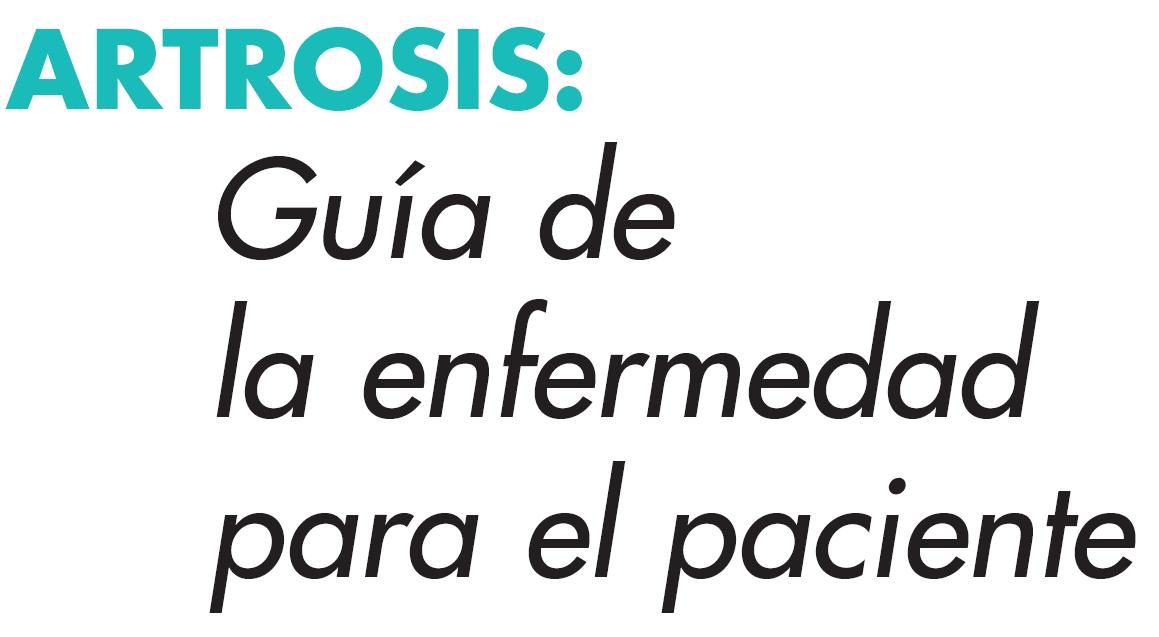 ARTROSIS GUÍA PARA PACIENTES