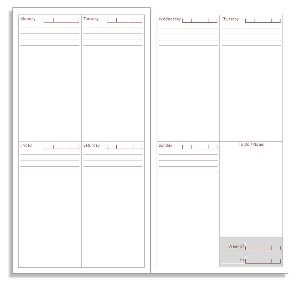 Printable Monthly Calendar And Journal Pages Html Autos
