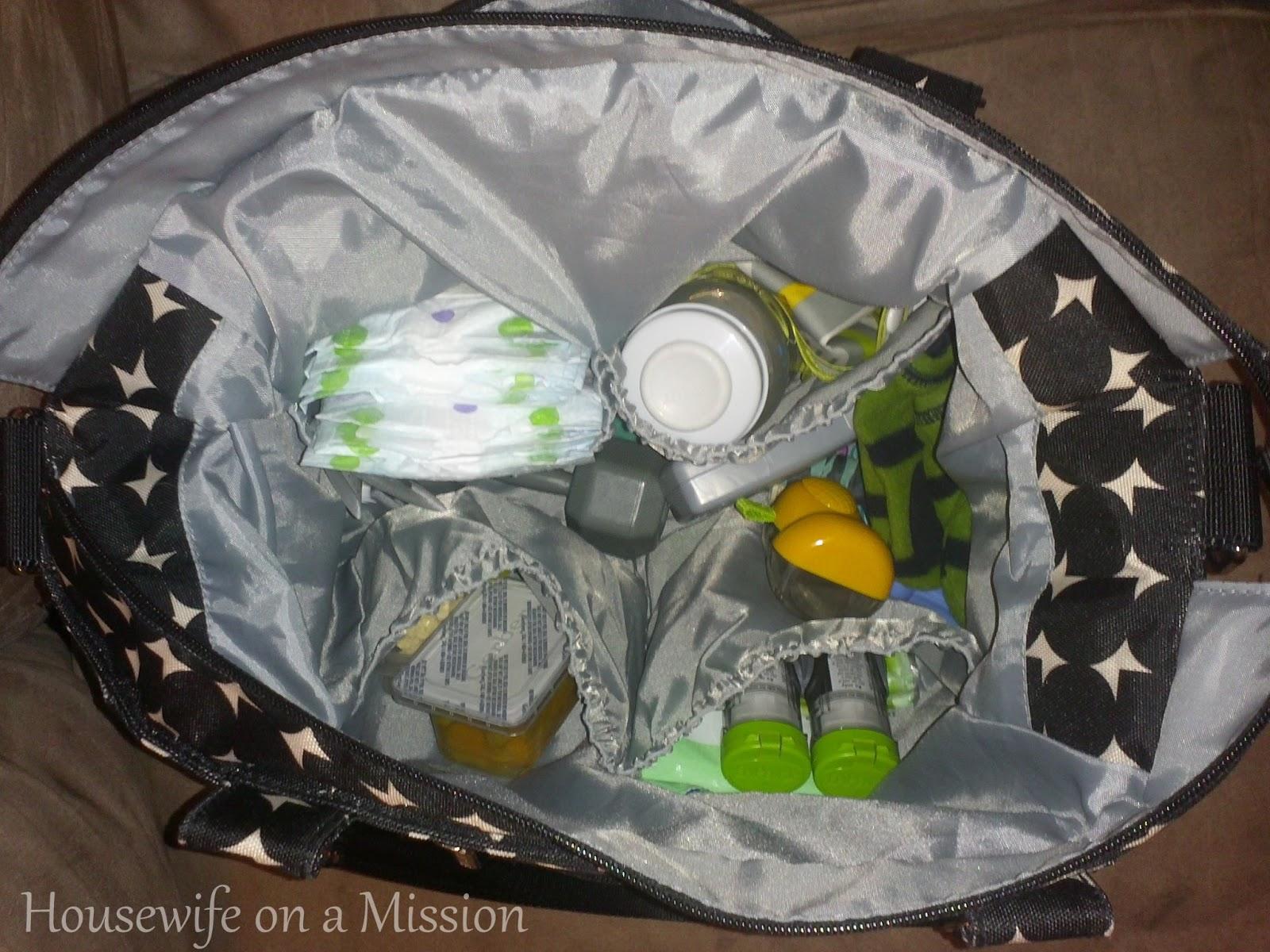 let 39 s eat be messy jj cole caprice diaper bag thrif. Black Bedroom Furniture Sets. Home Design Ideas