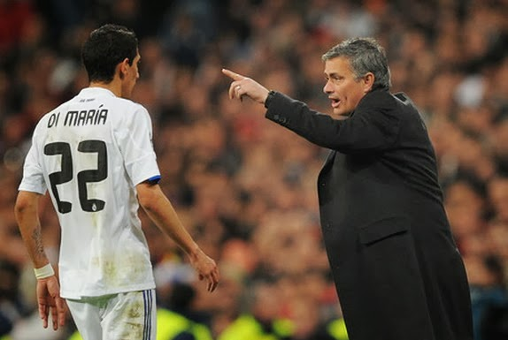 Ángel di María and José Mourinho worked together during their time together at Real Madrid
