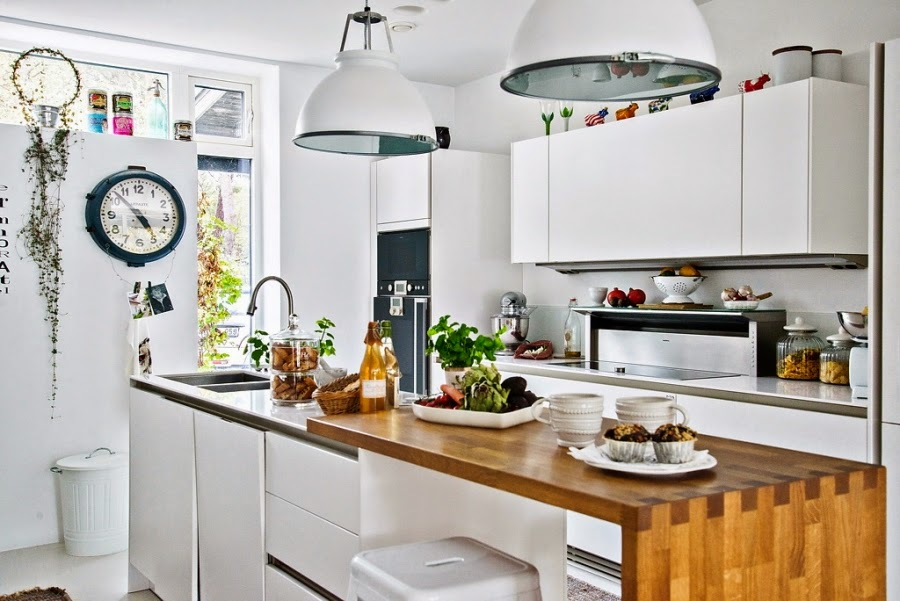 wystrój wnętrz, wnętrza, urządzanie mieszkania, dom, home decor, dekoracje, aranżacje, mieszanka stylów, białe wnętrza, otwarta przestrzeń, kuchnia