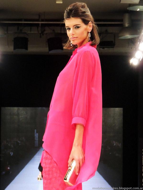 Moda 2014 Adriana Costantini verano 2014 blusas.