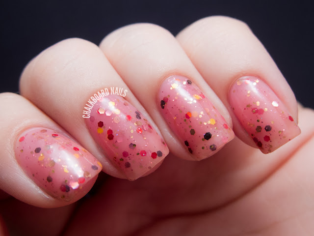 Chalkboard Nails: Happy Revolution Rum Ham