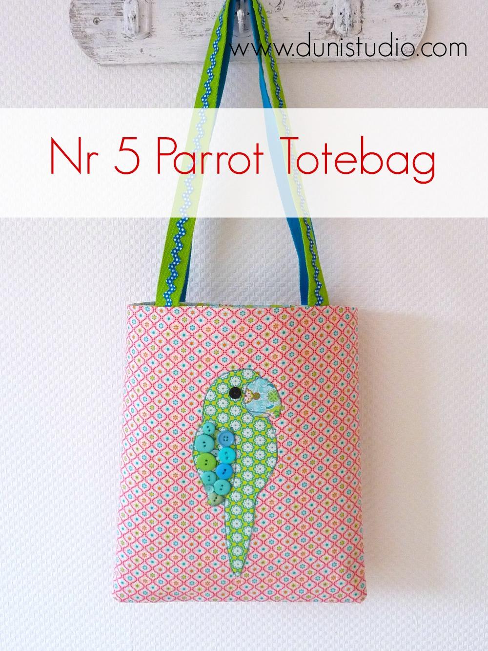 Duni\'s Studio: Parrot Tote Bag - Tutorial