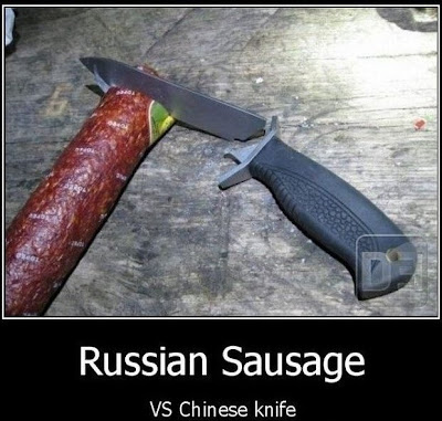 salame russo vs faca chinesa