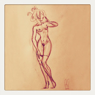 Drawing sketch by Cesare Asaro - Girl Sketches April 14, 2012