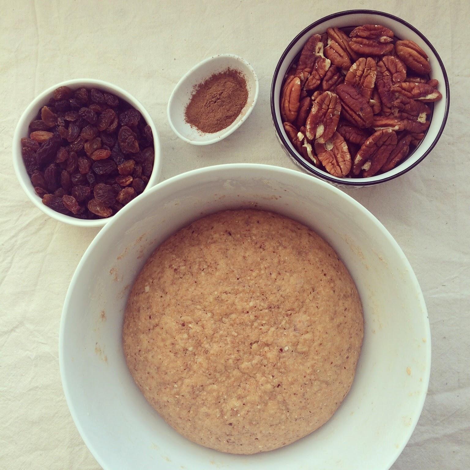 roulés cannelle pécan raisins secs