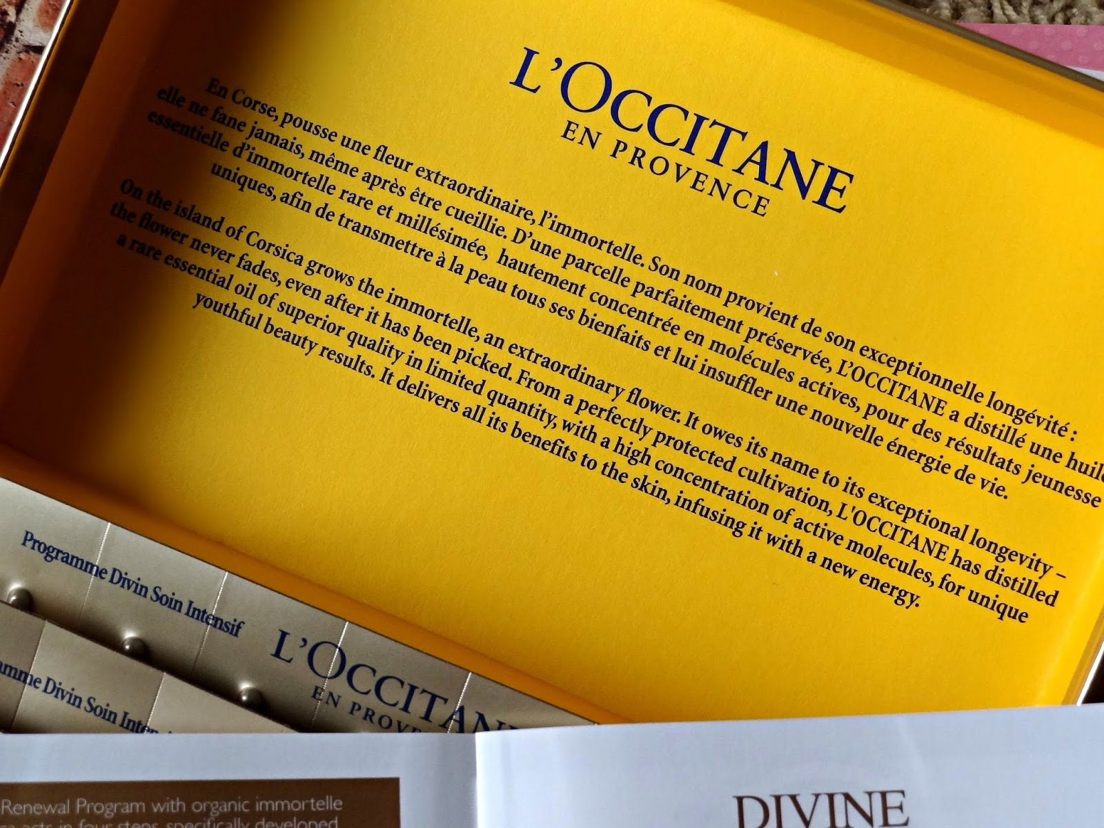 L'Occitane Immortelle 28 Day Divine Renewal Program Review, Photos