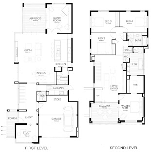 แบบบ้าน 4 ห้องนอน