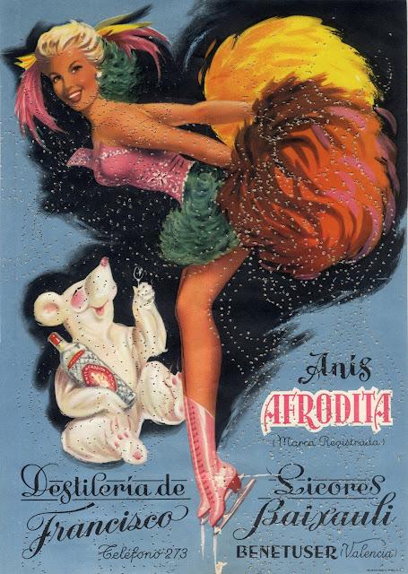 anis, Afrodita, años 50, coleccion  efimera, museo Valenciano de etnologia,