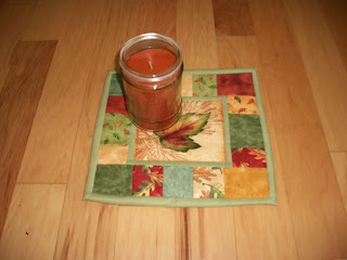 fall candle mat