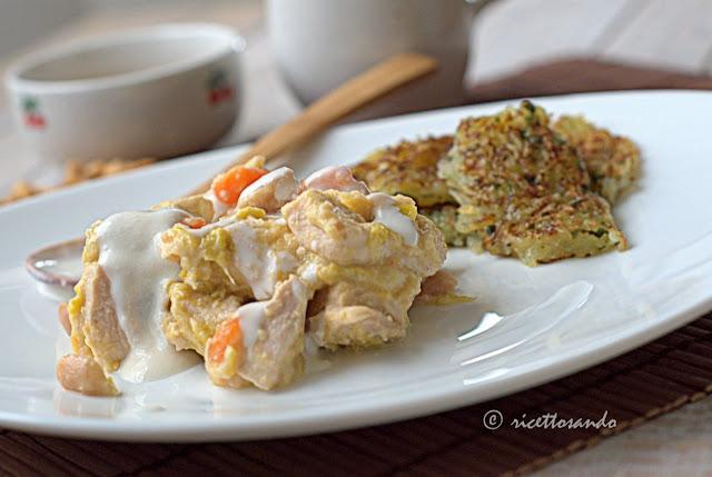 Blanquette di pollo alle arachidi rietta di carne bianca