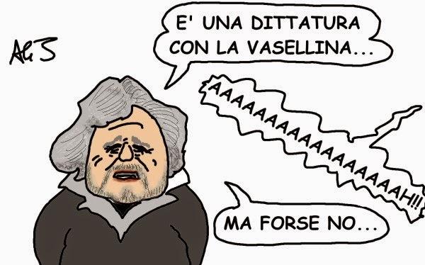 m5s, Grillo, legge stabilità, satira, vignetta