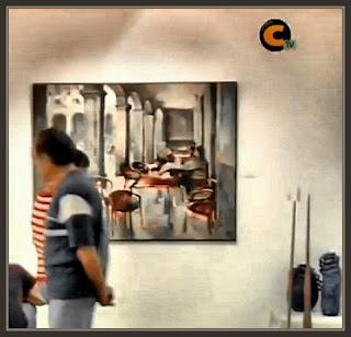 JILOCA-TERUEL-MONREAL DEL CAMPO-PINTURA-LAPAYESE-TELEVISION-CUADROS-ERNEST DESCALS-