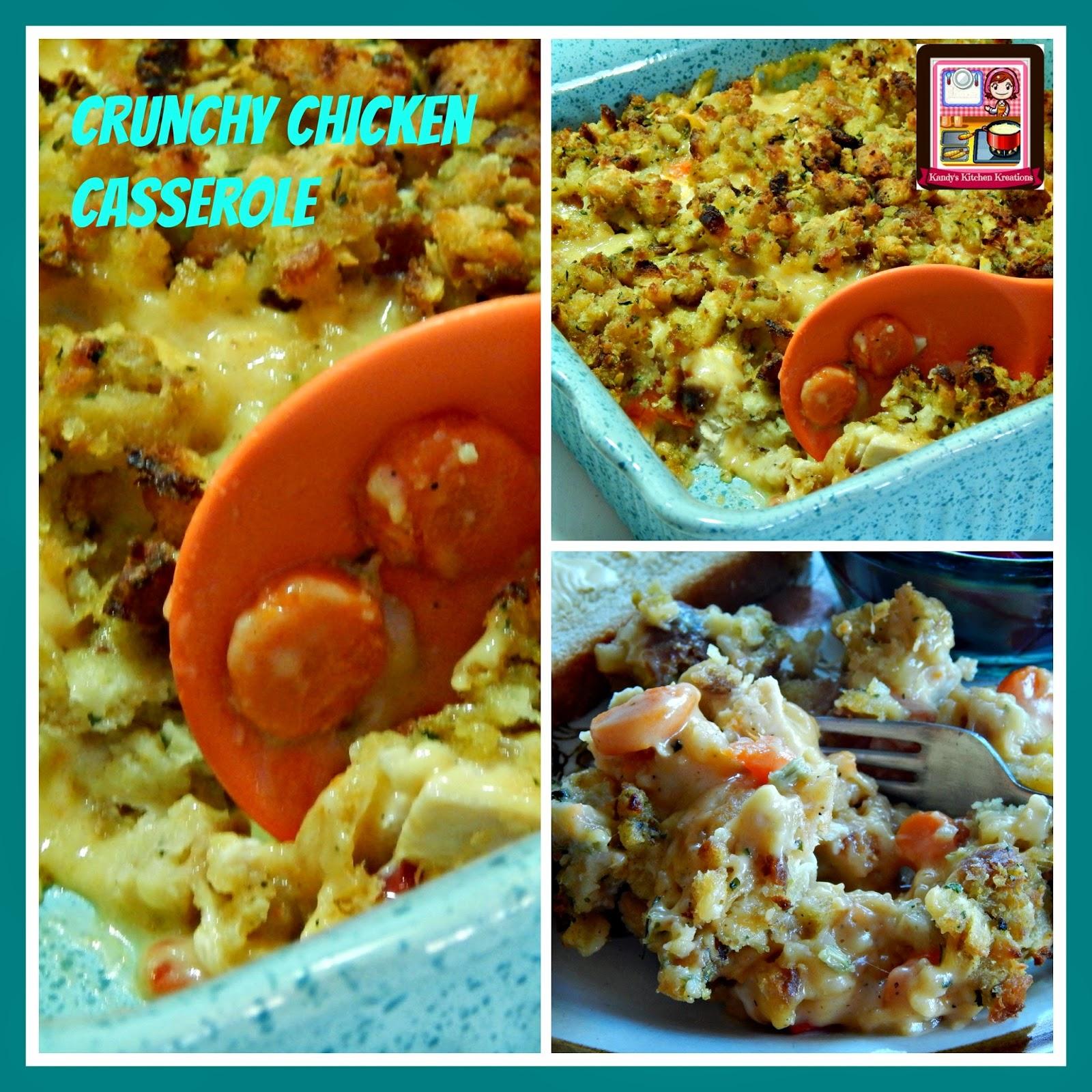 Kandy's Kitchen Kreations: Crunchy Chicken Casserole