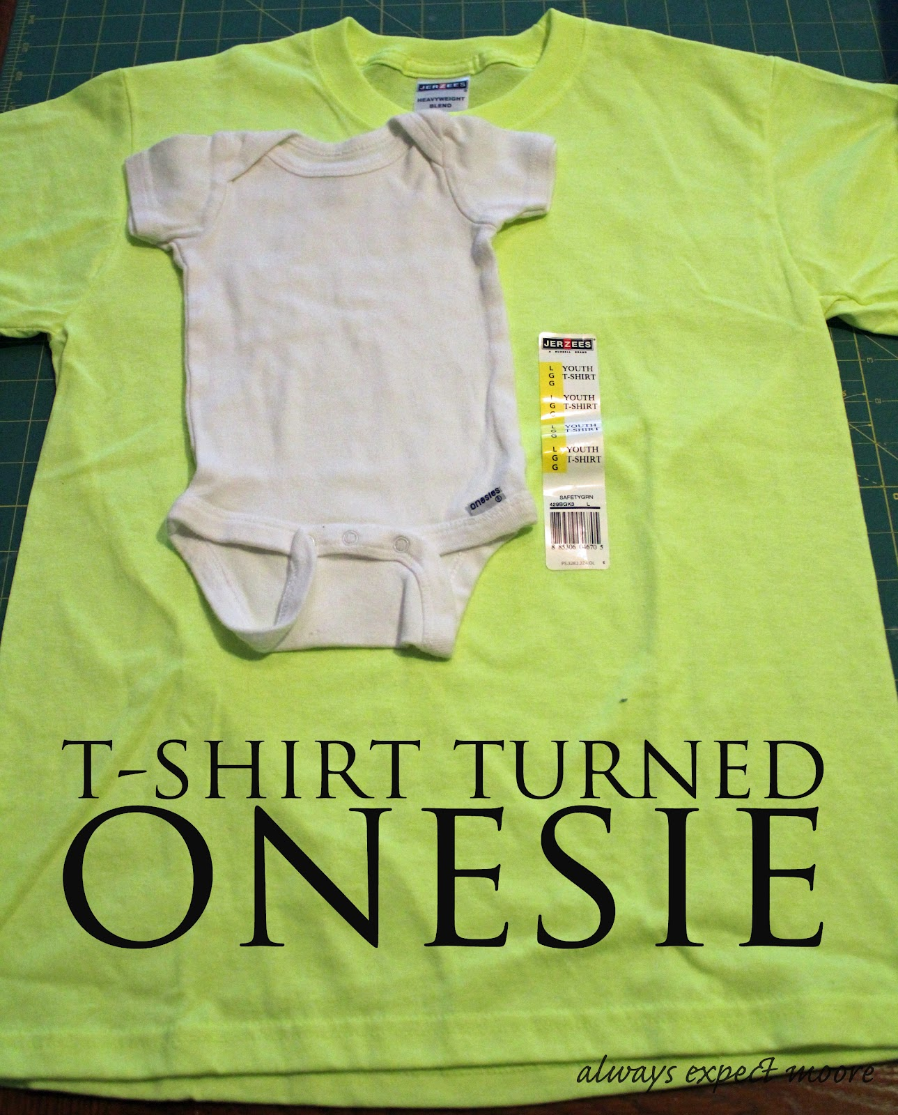 bright neon baby onesie from a t shirt