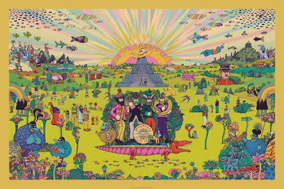 "The Beatles ""Pepperland"" Variant Screen Print by Marq Spusta"