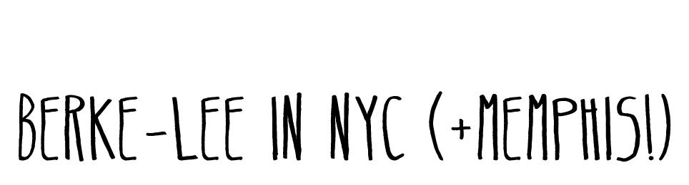 Berke-Lee in NYC